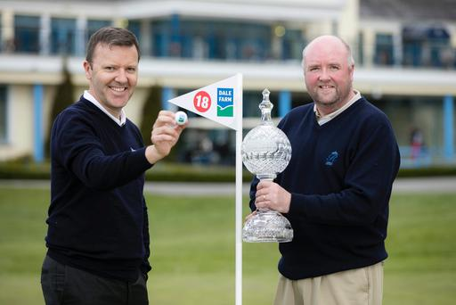 Jason Hempton from Dale Farm and James Finnigan of the Irish Open yesterday