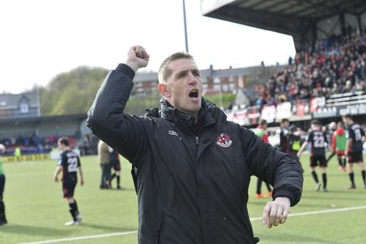 Victory roar: Stephen Baxter hopes Crusaders can finish the job tomorrow