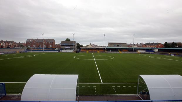 Dark days at Clandeboye Park: Bangor are facing demotion to third tier of Irish League football