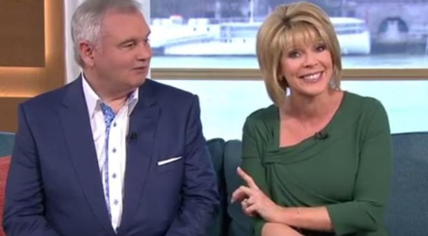 Eamonn Holmes is back on the ITV This Morning sofa.