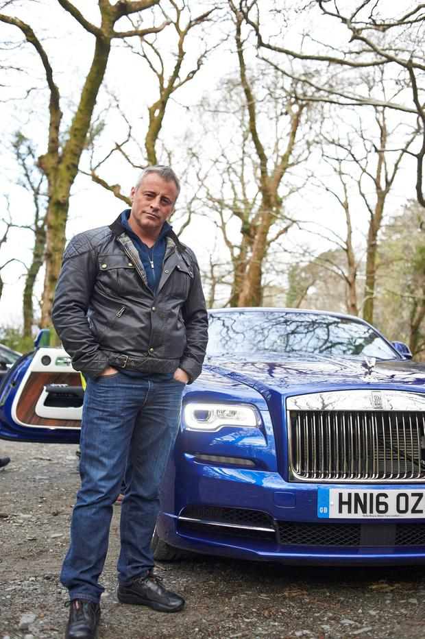 Matt LeBlanc driving a new Rolls-Royce Dawn around Ireland's Ring of Kerry, during filming for the new series of Top Gear which will return in May. PA