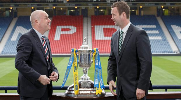 Head to head: Mark Warburton and Ronny Deila get up close to the Scottish Cup
