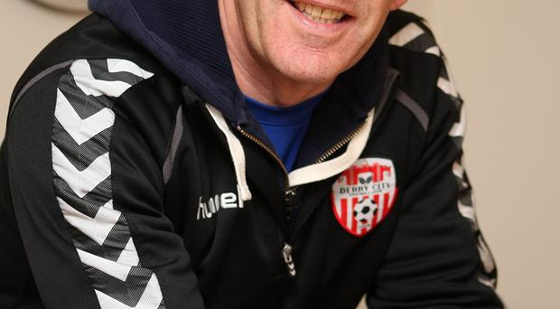 All smiles: Kenny Shiels is flying high with Derry City