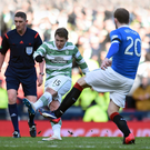 On target: Kris Commons is hoping to hurt Rangers again
