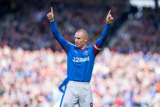 Warrior: Kenny Miller is no stranger to an Old Firm scrap