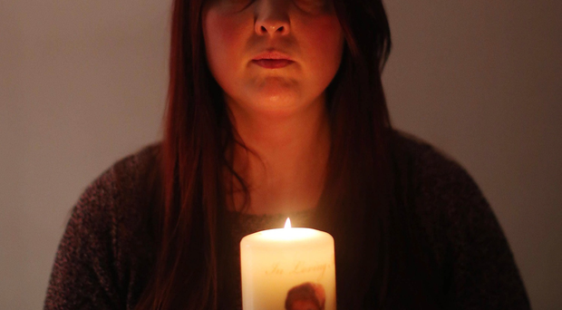 Joanne McGibbon, whose mother Margaret was cared for by hospice nurses before she died earlier this year, pictured at home in north Belfast. Picture by Jonathan Porter/PressEye
