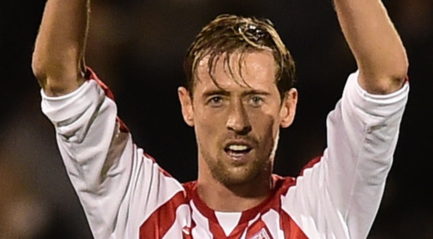 Old boy: Peter Crouch hopes Spurs win the Premier League