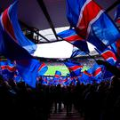 GLASGOW, SCOTLAND - APRIL 17: A general view during the William Hill Scottish Cup semi final between Rangers and Celtic at Hampden Park on April 17, 2016 in Glasgow, Scotland. (Photo by Ian MacNicol/Getty Images)