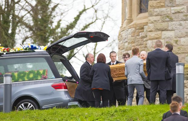 Funeral of Aaron Fox held in the Holy Cross Church on April 18, 2016 Belfast, Northern Ireland ( Photo by Kevin Scott / Belfast Telegraph )