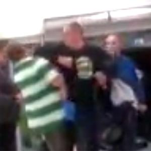 Rangers and Celtic fans clashed on Sunday night