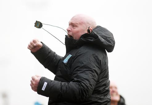 Jumping for joy: David Jeffrey has Ballymena on fire