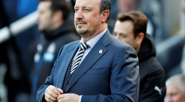 Looking up: Rafa Benitez is in search of back-to-back wins