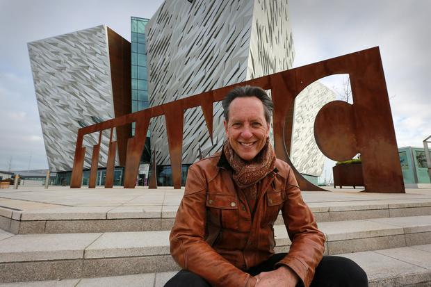 Tourism Ireland has teamed up with actor Richard E Grant and Smooth Radio, the third largest radio brand in Britain, in a new promotion to showcase the island of Ireland to British holidaymakers this year. Tourism Ireland is working with Smooth Radio to produce a series of five short online films. PIC SHOWS: Actor Richard E Grant, during filming for Tourism Ireland at Titanic Belfast. Pic – Phil Smyth