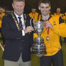 Silver lining: Inst captain Andrew Corry with Kirk Cup