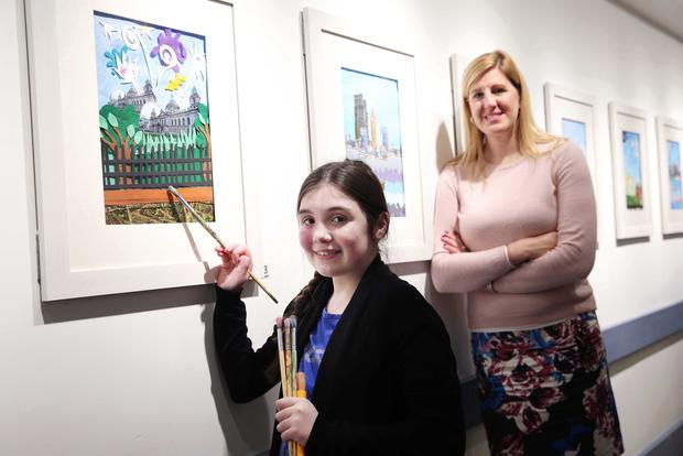 Jenni Barkley of Belfast Harbour with young artist Abby McConville