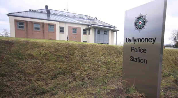 Ballymoney PSNI station, where the tragedy took place