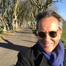 Richard E Grant at the dark hedges.