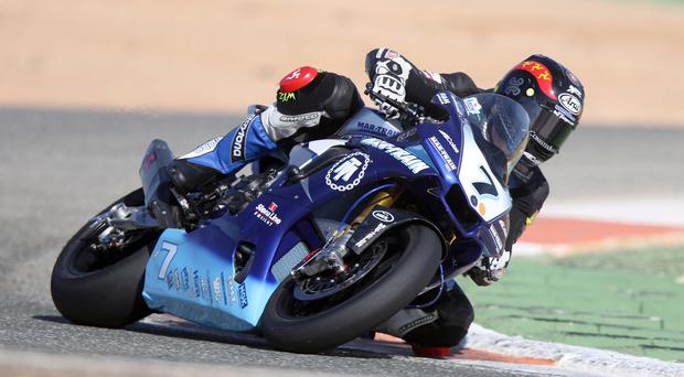 New machinery: Dan Kneen will ride the Mar-Train Yamaha R6 bike at Tandragee for the first time on Saturday