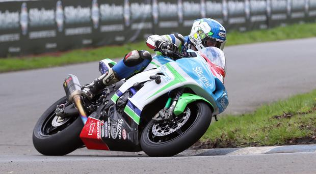 Dean machine: Dean Harrison has yet to finish a race at the North West