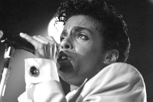 Prince pictured in 1986