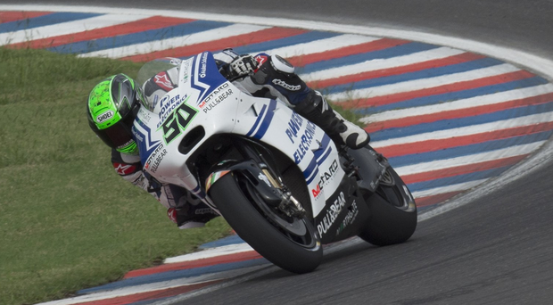 Scene of the fall: Eugene Laverty returns this weekend to Jerez where he crashed last November