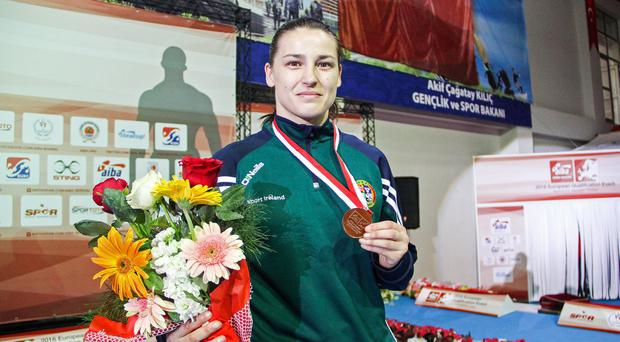 Rare defeat: But Katie Taylor is confident she will bounce back