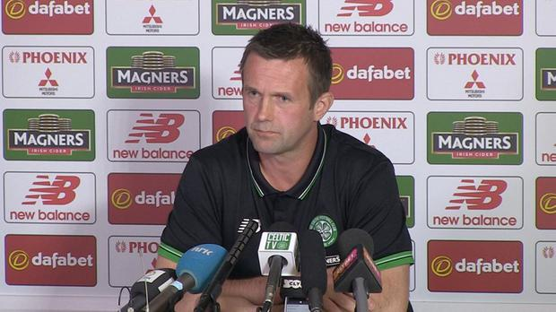 Big call: Ronny Deila explains his reasons for leaving Celtic at a press conference yesterday