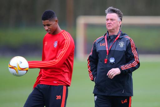 Watching brief: Louis van Gaal says Marcus Rashford is just one of a long line of talents he has helped catapult onto the big stage
