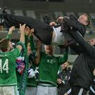 Going up: Michael O'Neill's work is admired by Lawrie McMenemy