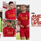 Images of Liverpool kit appeared on the New Balance website before being swiftly removed