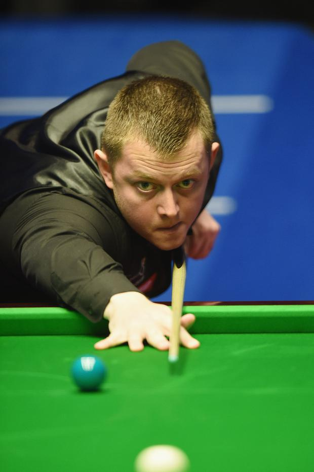 Making mark: Mark Allen goes into tomorrow's second round showdown against Kyren Wilson on top form