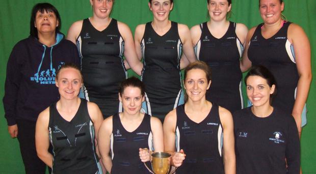 In it to win it: Larkfield, with coach Denise Prue, have the chance to add the Senior Cup to their Premier League crown