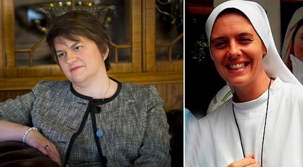 Arlene Foster has revealed how she was moved to tears by the death of young Londonderry nun Clare Crockett