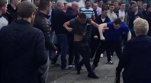 Trouble flares between fans ahead of Everton and Manchester United FA Cup semi-final