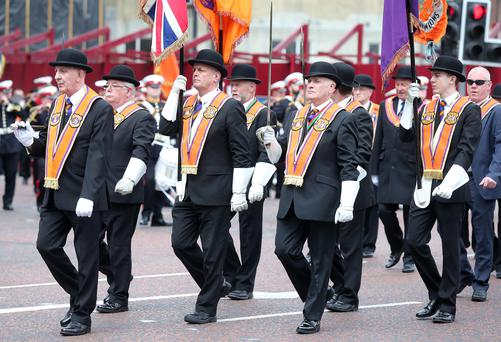 City Of Belfast Loyal Orange Widow's Fund paraded through Belfast city centre on Sunday. Picture by Jonathan Porter/PressEye