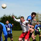 Action from Aquinas' 1-0 win over Bangor YM (Pic courtesy of Joe McEwan)