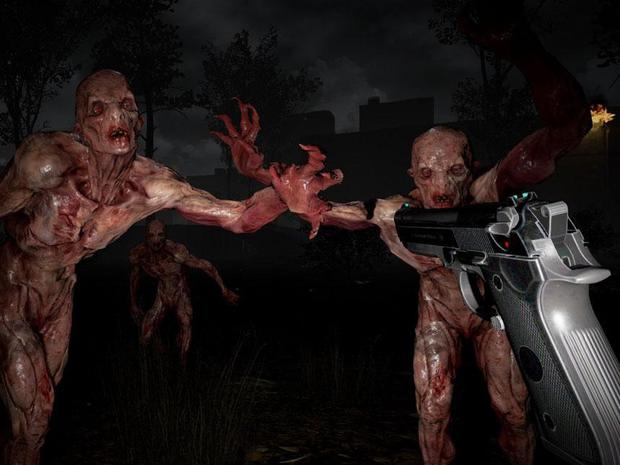 A screenshot from the terrifying VR game, The Brookhaven Experiment by Phosphor Games