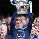 Silver lining: Dublin ace Stephen Cluxton lifts the Division One title