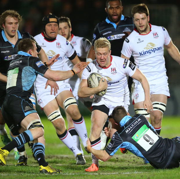 Raring to go: Stuart Olding believes he is back on the right track after the second serious ACL injury of his career