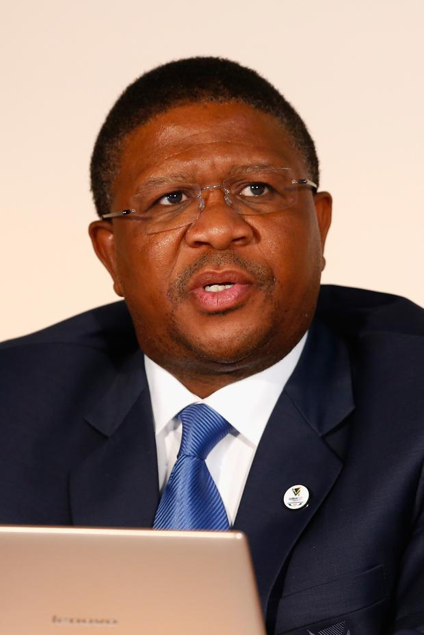 Ban: South African Sports Minister Fikile Mbalula has rocked rugby