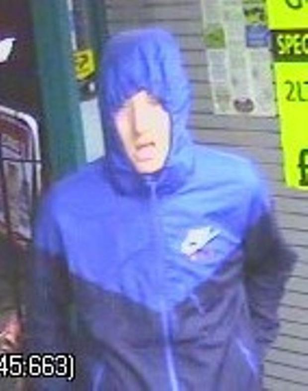 Police want to speak to this man. Pic: PSNI