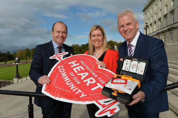 Henderson Group launched the Heart of our Community campaign in October 2015 with the full backing of Department of Health, Social Services and Public Safety (DHSSPS) and Dr Michael McBride, Northern Irelands Chief Medical Officer (pictured left with Bronagh Luke and Paddy Doody from Henderson Group). Since then, over 300 stores have fundraised and will have their defibrillator installed in 2016. Over 100 have already been installed so far this year.