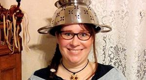 Lindsay Miller is a pastafarian and member of the Church of the Flying Spaghetti Monster