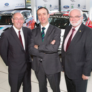 Revved up: Gary Milligan, Clerk of the Course, John Mulholland, Managing Director John Mulholland Motors and Robert Harkness, President of The Northern Ireland Motor Club Ltd at the John Mulholland Motors Ulster Rally 2016 sponsorship announcement