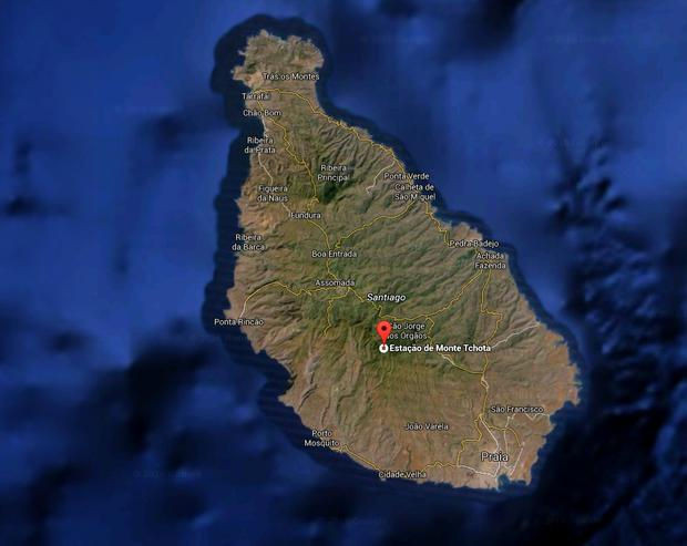 Cape Verde: Eleven people have been shot dead at the Monte Tchota military barracks. Image: Google
