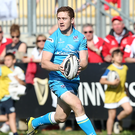 In hand: Paddy Jackson says his Player of the Month award is an honour