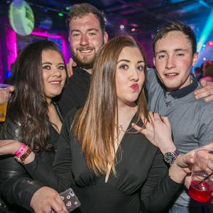 People out at the Limelight for Scratch Mondays. 25th April 2016. Liam McBurney/RAZORPIX
