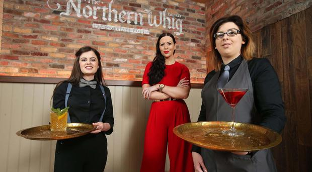 The investment in the revamp is in addition to the price paid for the building in February by its owners, The Horatio Group, bringing the total investment to over £2m. As a result of the changes, the venue has created an additional 15 jobs, bringing the total number employed at The Northern Whig to almost 50. Pictured preparing for the official opening are new staff members Janean McAuley and Victoria Cruz along with Rebecca McKinney.