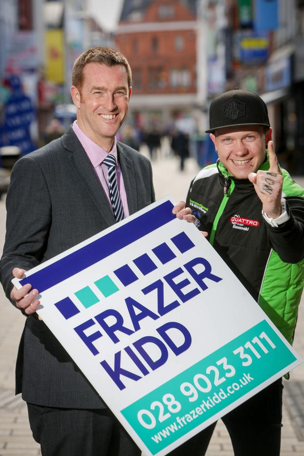 Winning team: Brian Kidd, Partner at Frazer Kidd, with Andy Reid