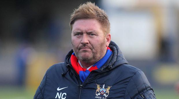 Making a point: Ards boss Niall Currie says his side face two tough games